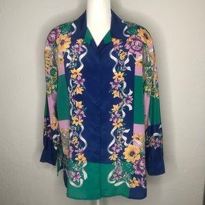 Bice Vintage Floral Long Sleeve Top #12